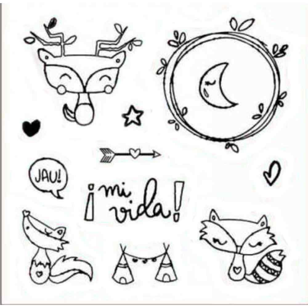 Spain Fox Clear Stamps For Scrapbooking Paper Cards Making DIY New