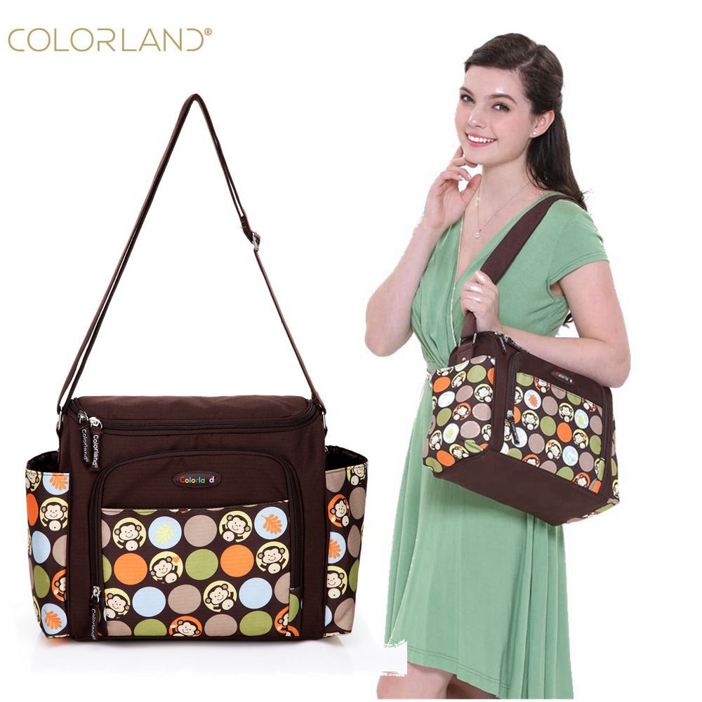 COLORLAND Baby Diaper Bag Organizer Fashion Printing Messenger Mummy Maternity Bag Brand Large Waterproof Nappy Bags