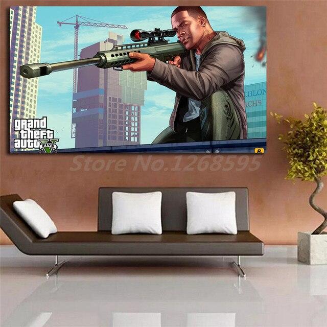 Franklin Clinton Gta 5 Wallpaper Hd Canvas Posters Prints Wall Art