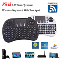 2.4GH i8 Ruso Mini Teclado Inalámbrico Fly Air Ratón Touchpad para Android TV BOX PC Portátil de Juegos PS3 Hebreo Clave de Control Remoto