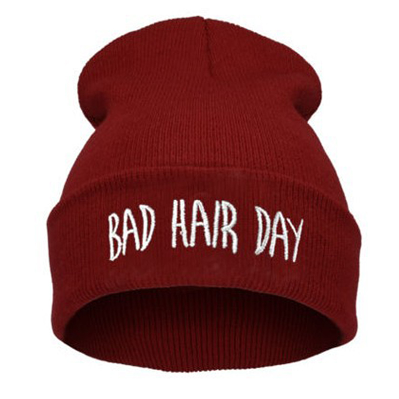 BONJEAN Bad Hair Day Winter Men Knitted Hat 2017 new Fashion women Casual Gorros Elastic Bonnet Skullies Women Beanies Cap