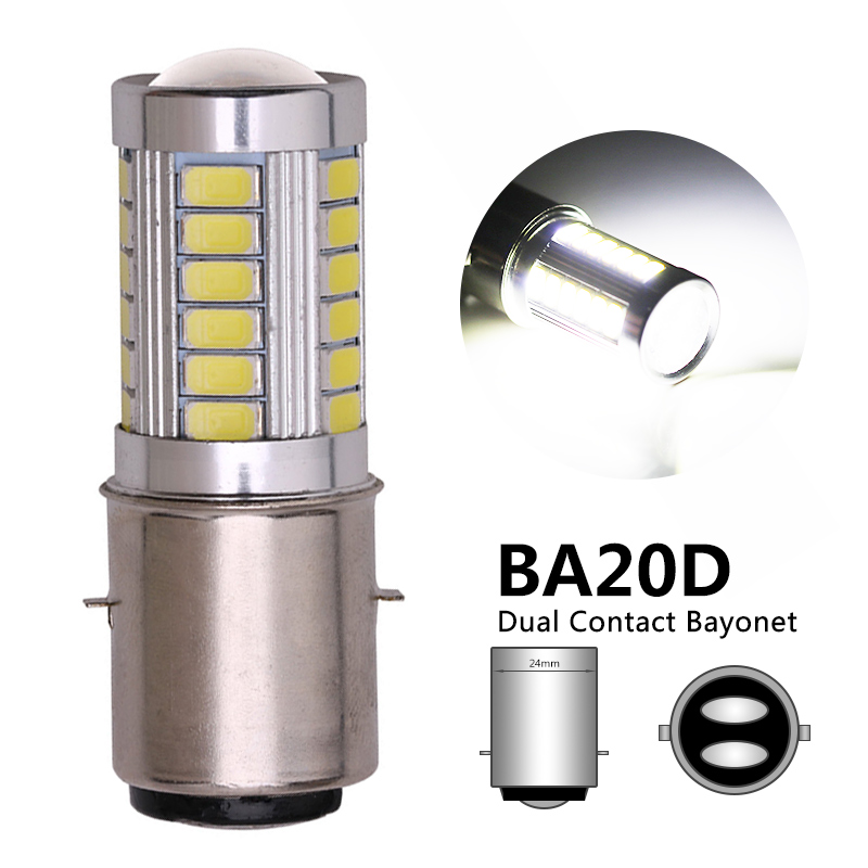 1PCS BA20D LED Motorcycle Headlight Bulb H6M Led Motorbike Front Fog Head Light Lamp BA20D Headlight Bulb 12V