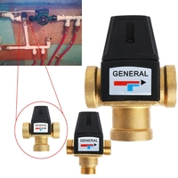 3 Way Brass DN20 DN25 Male Female Thread Water Thermostatic Mixing Valve 3 4 1
