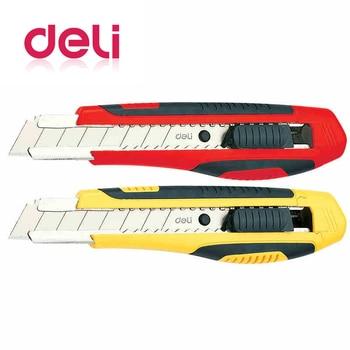 Deli 1Pcs Office School Cutting Supplies 18 mm Utility Knife Blade Diameter Blade Length 10cm Automatic Push And Pull random 1