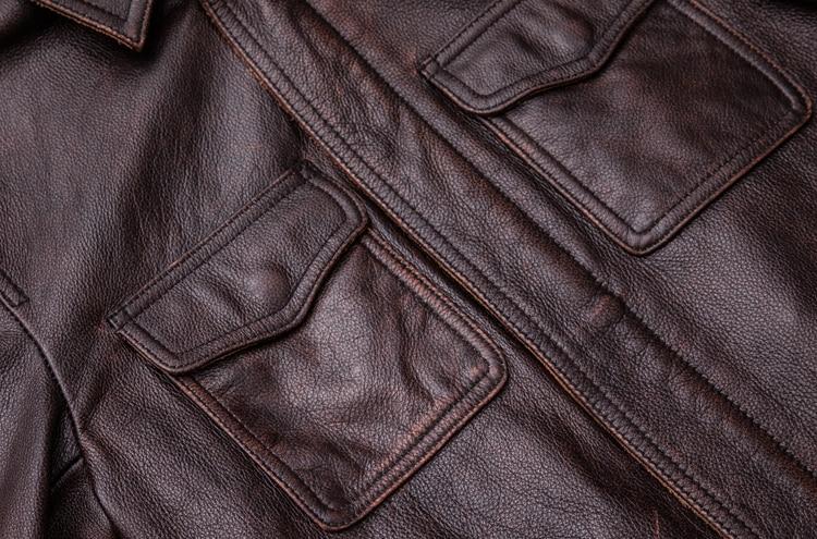 MAPLESTEED Brand Vintage Kurtka skórzana mężczyźni 100