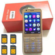 4 Sim Cards 4 Standby 2.8″ mobile phone mp3 gsm china 800mAh battery Phone Cheap PHONES Russian keyboard key button H-mobile C9