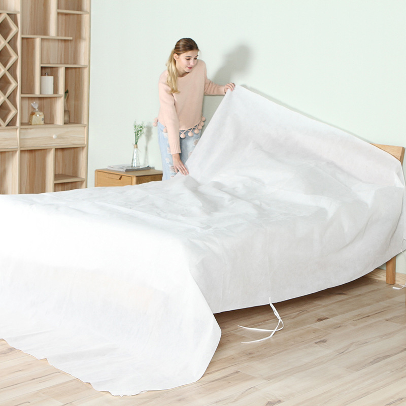 Large Size Furniture Sofa Bed Dust Cover Non-woven Fabric Waterproof Bedspreads Dust Cloth Cover Home Cleaning Dustproof Cover ...