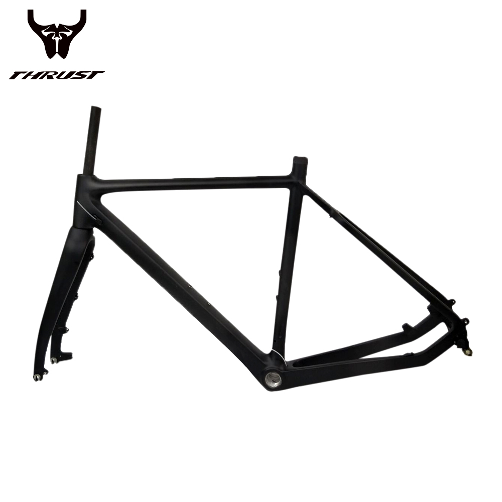 Carbon Road Frame Disc Brakes Di2 Mechanical 3k UD Carbon Fiber Racing Road Bike Frame with Fork Headset Seat post Max Tire 40mm 2018 top t800 full carbon road frame ud glossy road bike frames carbon di2 climbing fork seat post clamp bb86 glossy xs s m l