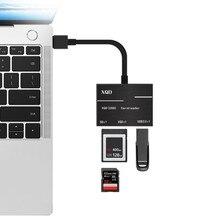 Высокоскоростной USB3.0 XQD кардридер XQD 500 МБ/с./с, устройство записи карт памяти 2,0 для sony Lexar XQD с usb-меткой