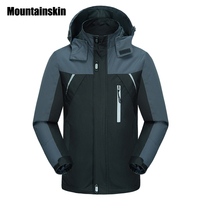 Mountainskin Spring Jackets Men S Coats 4XL Casual Hooded Mens Windbreaker Windproof Waterproof Male Jacket Brand