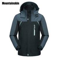 Mountainskin Spring Jackets Men S Coats 4XL Casual Hooded Mens Windbreaker Windproof Waterproof Male Jacket Brand