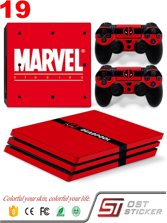 OSTSTICKER New Design For Sony PS4 Pro Vinyl Skin Sticker Cover For PS4 Pro For Playstation 4 Pro-Marvel