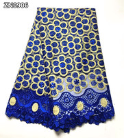 French African Lace Fabric High Quality Embroidered Nigerian Net Lace With Guipure Lace Fabric 5 Yards