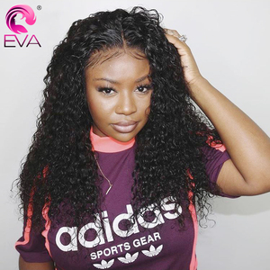 Image 4 - Eva Hair Curly Full Lace Human Hair Wigs Pre Plucked With Baby Hair Glueless Full Lace Front Wigs For Women Brazilian Remy Hair
