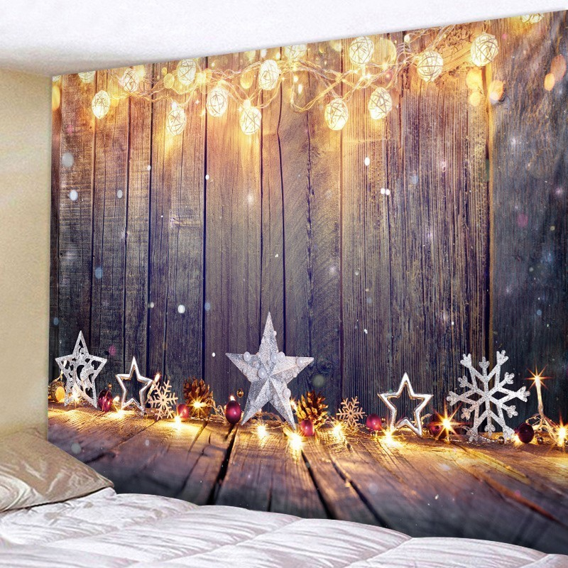 Image 5 - New Year Tapestry Mandala Lighting Ball Decor Hippie Psychedelic Tapiz Wall Fabric Christmas Wall Tapestries Tenture Home Decor-in Tapestry from Home & Garden