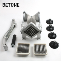 3 blades Good Quality Hand Push Vegetable Fruit Chopper Household Alloy Steel French Fries Potato Strip Cutter