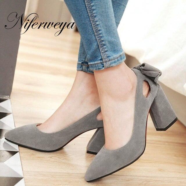 c12dfe5a0 Nova Primavera/Outono Pontas Do Dedo Do Pé mulheres sapatos Nude tamanho  grande 32-