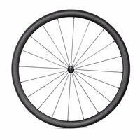 38mm Carbon Clincher Wheelset Road Bike Carbon Wheels With Novatec F271SB R372SB Hubs 700C 23mm Width