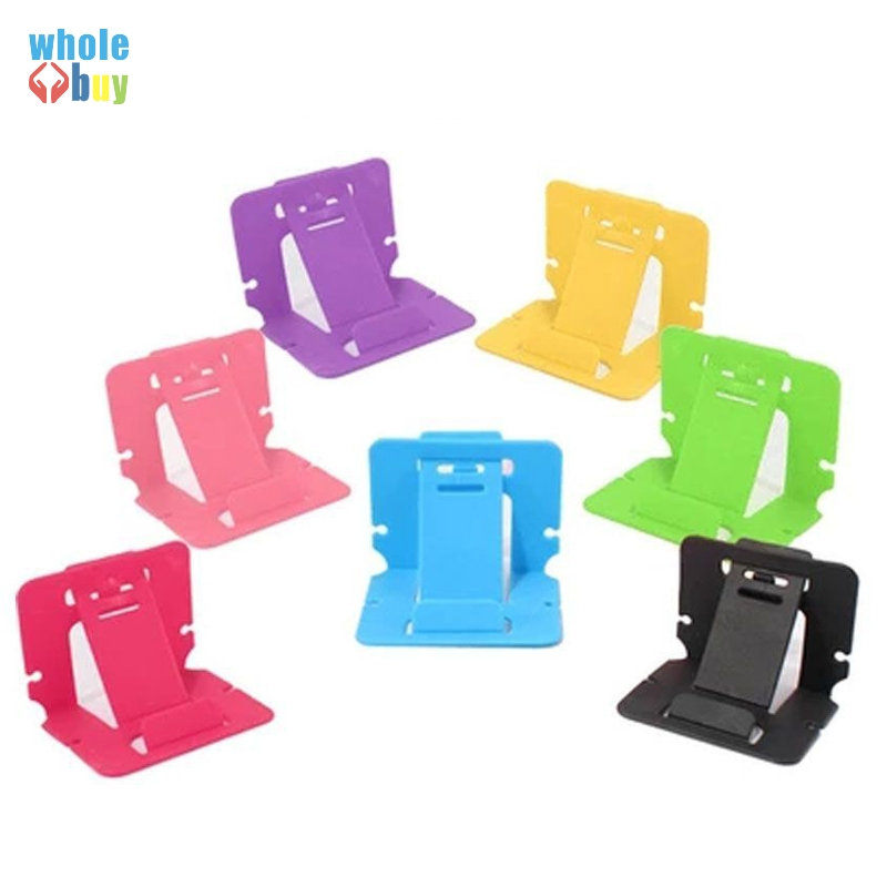 5000pcs/lot Wholesale Fashion Card Folding Bracket Candy Color Phone Holder Plastic Universal Bracket For Iphone HTC Card Stand