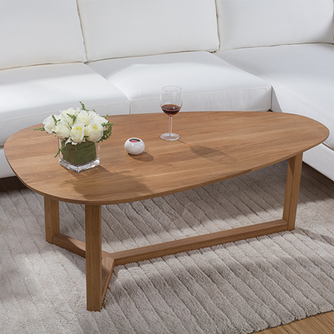 Merveilleux Yidai Home White Oak Coffee Table Oval Coffee Table Creative Minimalist  Wood Furniture Small Apartment Sofa End Table Table In Coffee Tables From  Furniture ...