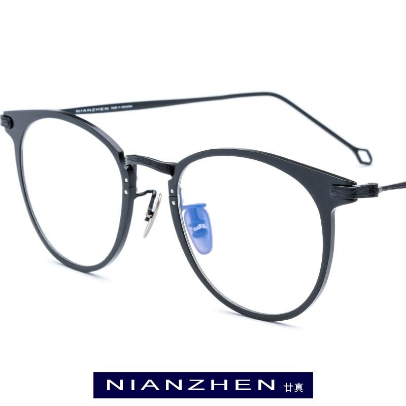 Pure Titanium Eyeglasses Frame Men Vintage Round Myopia Optical Frame Prescription Eye Glasses for Women Spectacles