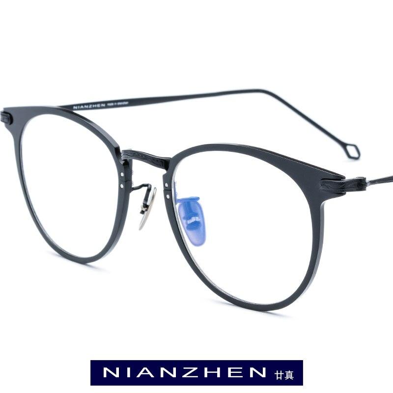 Titane pur lunettes cadre hommes Vintage rond myopie optique cadre Prescription lunettes pour femmes lunettes lunettes 1132