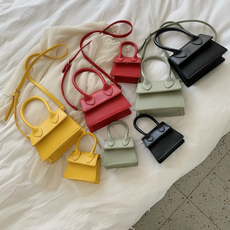 Solid Color PU Leather Crossbody Bags For Women 2019 Female Shoulder Messenger Bag Lady Mini Phone Purses and Handbags