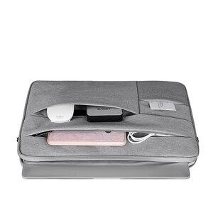 """Image 2 - バッグケース funda ための macbook air 13 11 12 15 15.6 """"ラップトップバッグ男性ノートブックコンピュータ男性シンプルなオフィスビジネスデル HP"""
