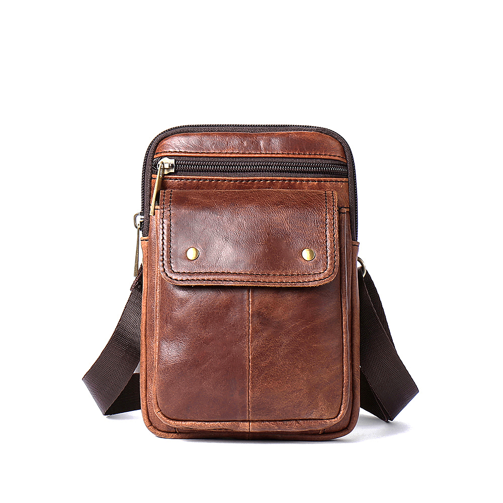 COMFORSKIN Premium 100 Cowhide Leather Large Capacity Men Waist Pack Brand Design Men 39 s Leather Bag 2018 Hot Cross body Bag in Crossbody Bags from Luggage amp Bags