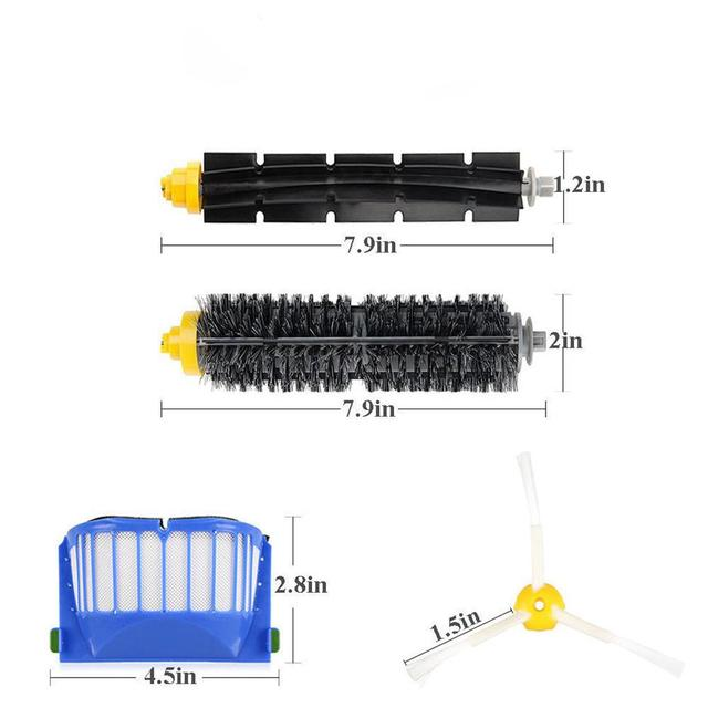 US $9 77 34% OFF|Adoolla Replacement Brush Filter Kit for iRobot Roomba  Aerovac 600 Series 620 630 650-in Vacuum Cleaner Parts from Home Appliances  on
