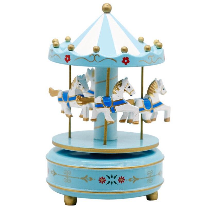 Bande dessinée carrousel boîte à musique fille cadeau d'anniversaire jouets créatifs pour enfants boîte à musique artisanat décoration de la maison style de conte de fées