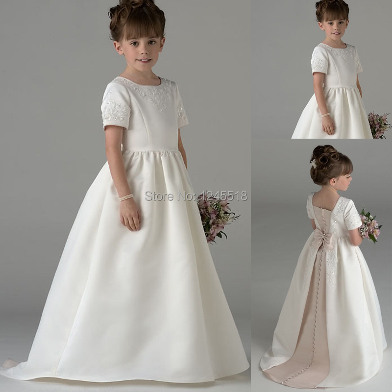 Flower Girl Dresses with Sleeves