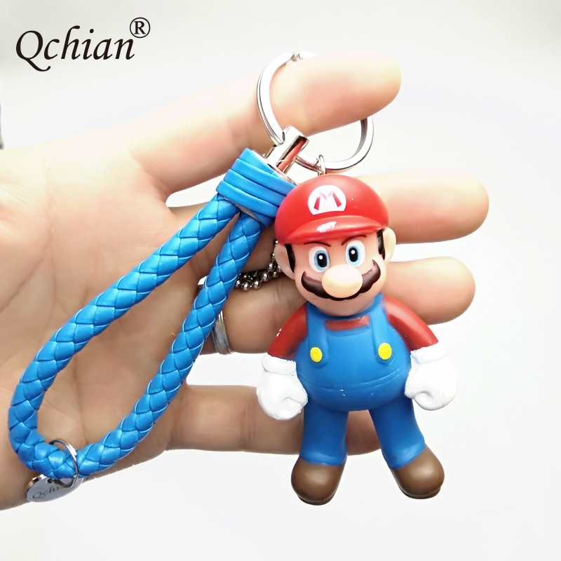 Classic Game Character Super Mario Toy Keychain Car Key Backpack Decorative Pendant Nice Holiday Gift for Kids