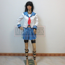 Angel Beats! Anime Yui Iwasawa Escuela uniforme Cosplay Traje de Halloween