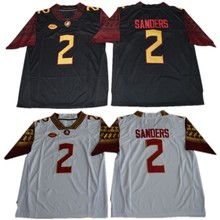 a55e9235e35 Florida State Seminoles Deion Sanders 2 College Football Jersey - Black Red  White Stitched Size S