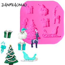 DIY Christmas Silicone Mold Baking Tools For Cakes Food Grade tree Cake Tool Chocolate Molds A464017