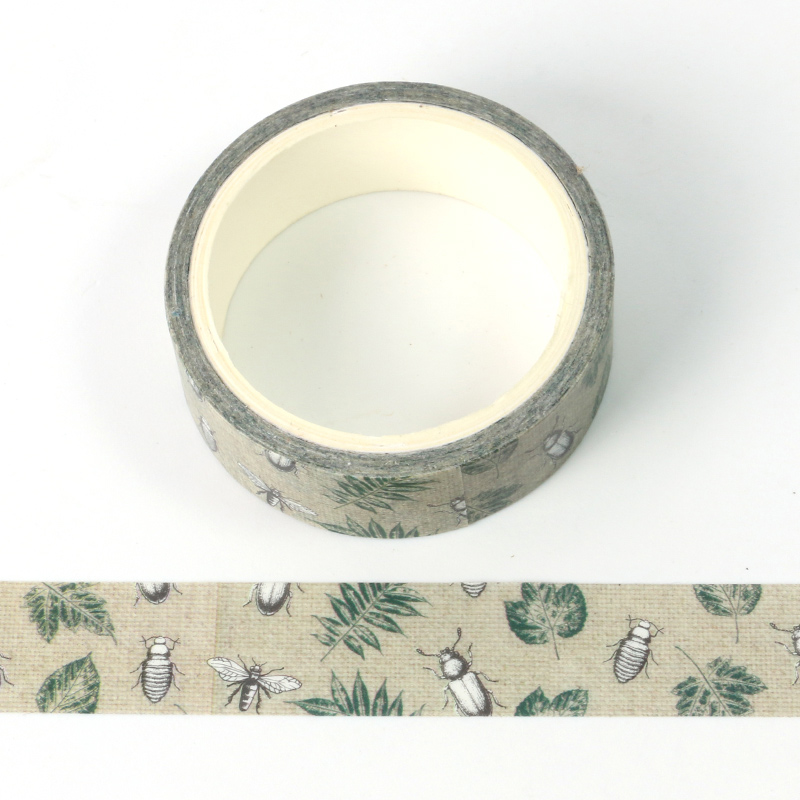 1X Retro Nature Insect World Decoration Washi Tape DIY Planner Diary Scrapbooking Masking Tape Escolar 5m Tape