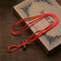 100 strands/バッグネックレスナイロンコードチェーンchoker用チベットdziビーズ付きガラス調節可能な2〜2.5ミリメートル約15.5〜25.5イン