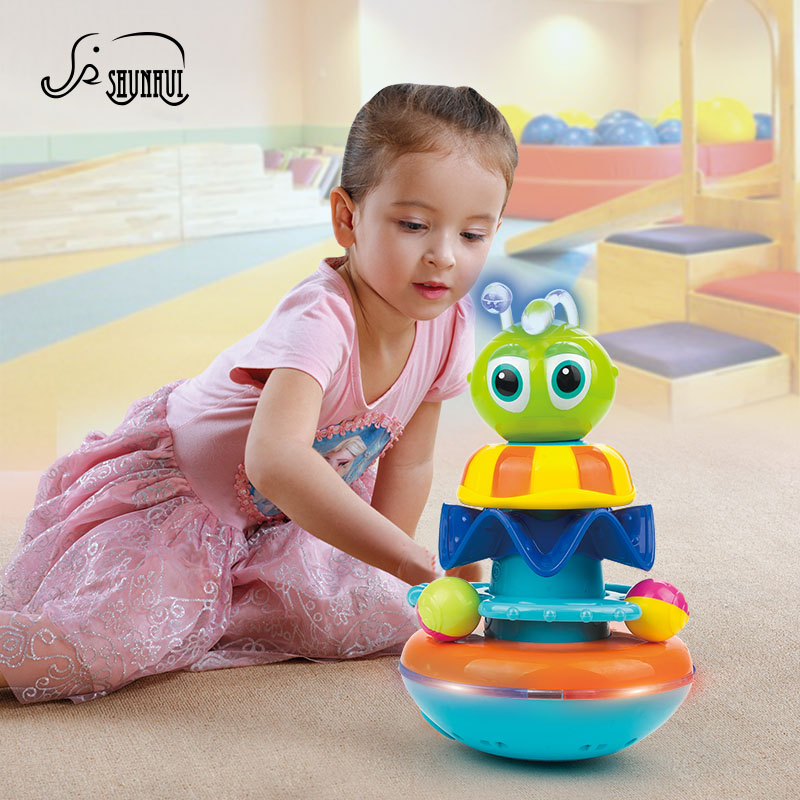Забавные Электрический пчела Электронные игрушки Игрушки для маленьких детей Детские музыкальные мигающий свет вращения интерактивные Иг...