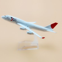 16cm Alloy Metal Air YoKoSo Japan Airlines Boeing 747 B747 400 Airways Plane Model Aircraft Airplane Model w Stand  Gift