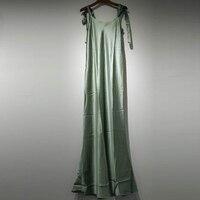 Для Женщин Шелковое атласное платье слинг сексуальное платье макси Для женщин без рукавов богемные Длинные платья Летние пикантные вечерн