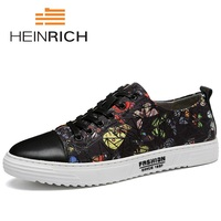 HEINRICH 2018 Brand Designer Shoes Men Lace Up Fashion Casual Shoes Male Sneakers Flats Breathable Shoes Zapato Hombre