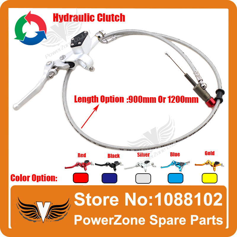 ФОТО Hydraulic Clutch Lever Master Cylinder 900mm or 1200mm Hose Motorcycle Dirt Pit Monkey Bike Atomik Pit Pro Parts Free Shipping