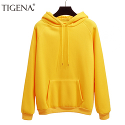 f7c89d8c0 TIGENA 2018 Thick Warm Winter Hoodies Sweatshirt Women Long Sleeve Pink  Pullovers Hooded Sweatshirt Female Sweat