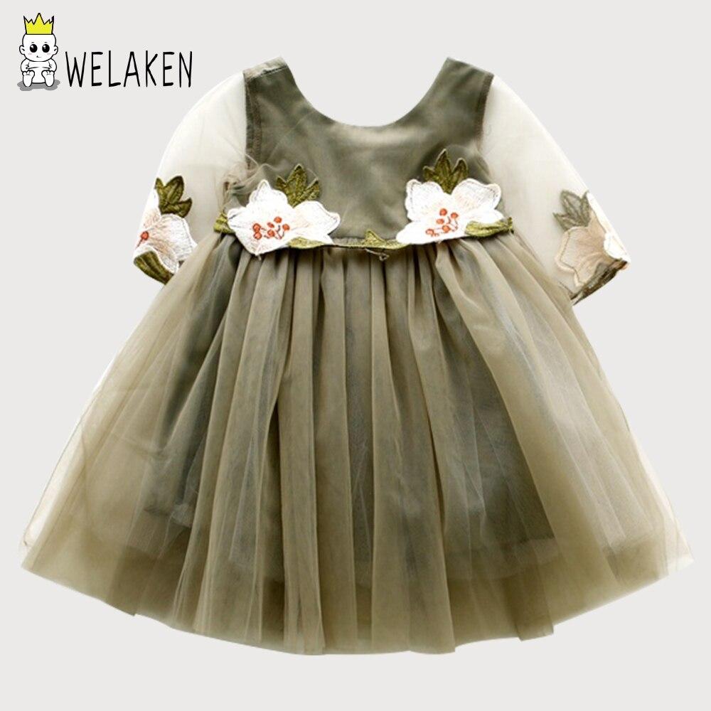 WeLaken Mädchen Prinzessin Kleid Niedlichen Blumenkleid Prinzessin Partei Kleidung Kinder Kleidung Kinder Prinzessin Kleid