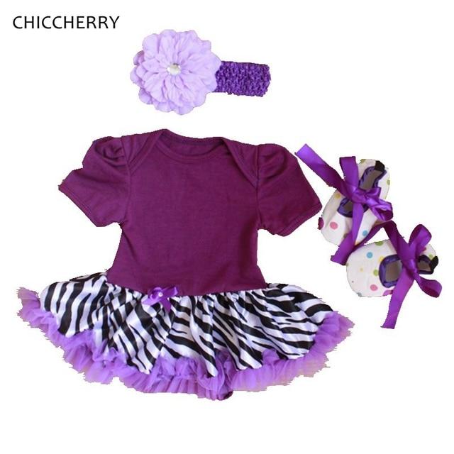 Zebra для Печати Детская Одежда Чистый Цвет Малышей Шнурка Девушки Ползунки Платье Повязка Обувь Установить Летний Костюм Vestido Menina Дети Наряды