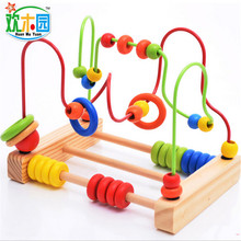 2016 New wooden Calculation beads frame colorful children s educational math educational toys wholesale