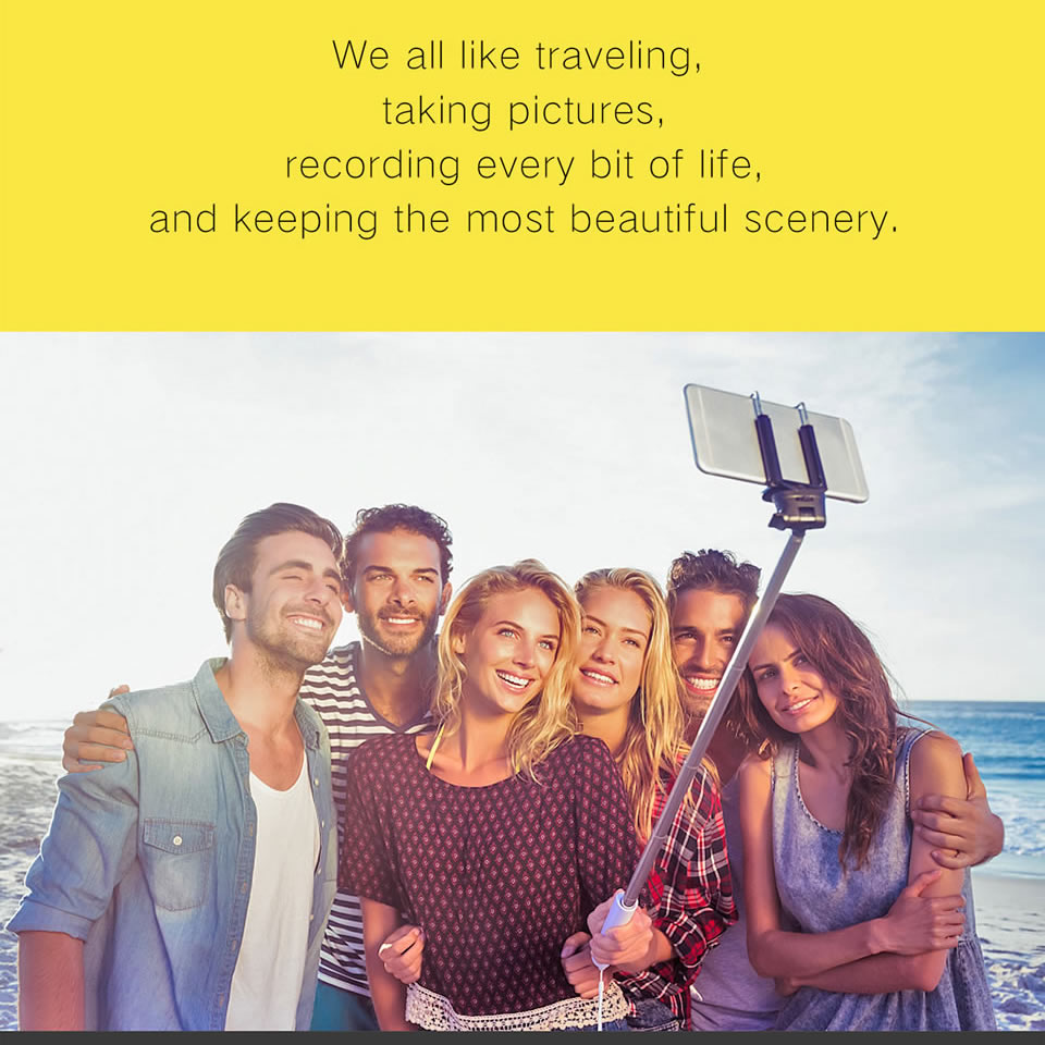 3 in 1 Wireless Bluetooth Selfie Stick for iphone/Android/Huawei Foldable Handheld Monopod Shutter Remote Extendable Mini Tripod 5