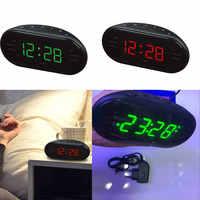 New AM/FM LED Clock Electronic Desktop Alarm Clock Digital Table Radio Gift Home Office Supplies EU/US Plug