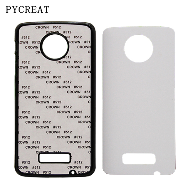 best service 2eeb2 c73a9 US $130.9  For Motorola Z Force Sublimation Case 2D Plastic Heat Transfer  For Moto Z X G4 Play X2 X3 Cover With Metal Aluminum Blank Plates-in Fitted  ...